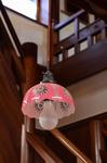 切子ガラスランプシェード 1階階段室 古民家岸邸.jpg