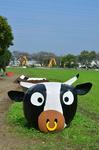 牛のラップサイレージ 牧草ロール モーモー広場 家畜に親しむつどい.jpg
