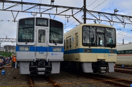 通勤車両1000形 8000形 小田急ファミリー鉄道展2015.jpg